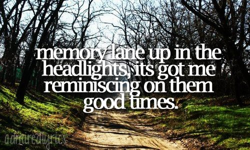 "dirt road anthem. ""Memory lane up in the headlights, its got me"