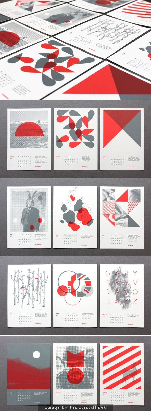 Modern graphic design #calendar cards