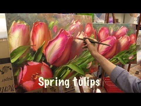 Tulipas... tentando pintar - YouTube
