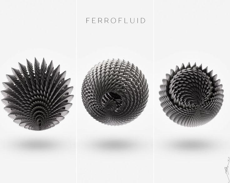 how to make ferrofluid sculpture