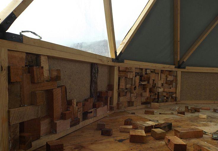 Diseno interior domos geodesicos en la patagonia chilena. Visitanos en www.refugiofossil.cl