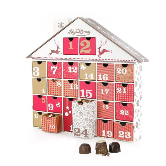 Chocolate Advent House, 28 Chocolates, 375g - Available to ship from 1st October 2015 available at LilyOBriens.ie