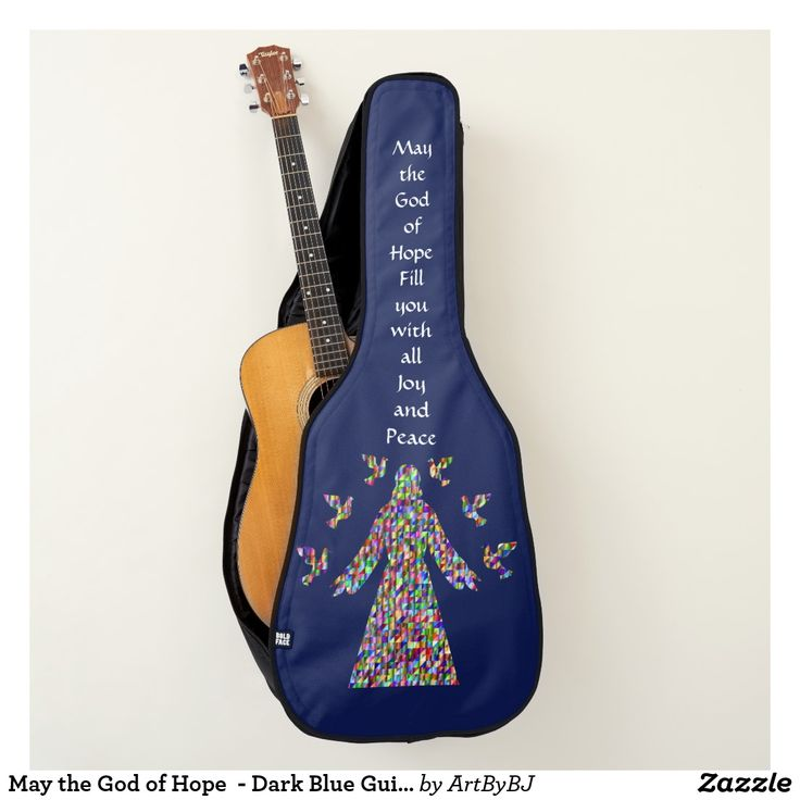 May the God of Hope  - Dark Blue Guitar Case- New Range of Guitar Cases specially designed for Church bands and musicians, or any Christian singing praises to God. . . . Some with a Decorative Cross, others with Bible verses,  IHS logo's and more. . . . So whether you are playing  music for the Church Band, modern hymns or Gospel singing groups, these Cases for your Acoustic Guitars and Electric Guitars are just the thing!  . . . . . Visit to see them all - you'll find AT LEAST one you'll…