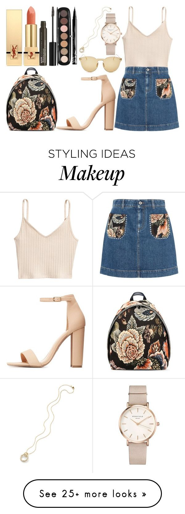 """loose cannon"" by citrusapple-1 on Polyvore featuring STELLA McCARTNEY, H&M, Yves Saint Laurent, Illesteva, NYX, Charlotte Russe, Marc Jacobs and ROSEFIELD"