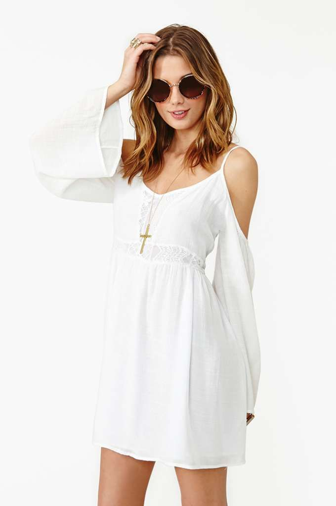 Meadow Crochet Dress - White | Shop Dresses at Nasty Gal