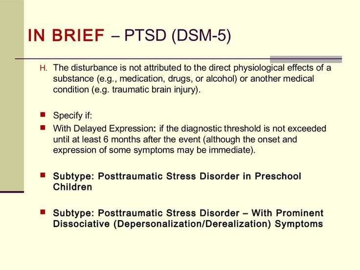 PTSD Differential Diagnosis And The DSM 5 Changes From IV