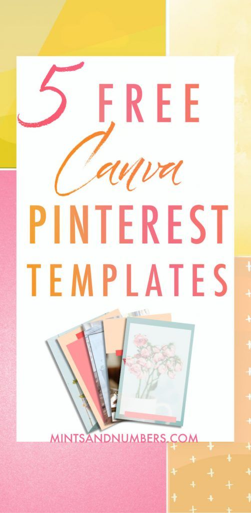 5 free pinterest templates for canva best of mints and numbers