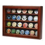 32 Challenge Coin wall Display