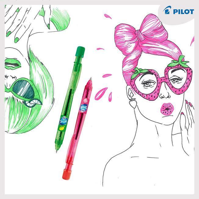 Červená jahoda, limetková zelená ... co to je? No přece naše barevná recyklovaná pera #B2P #Soda. Ideální pro ty, kteří žízní po troše zábavy! :) #happywriting