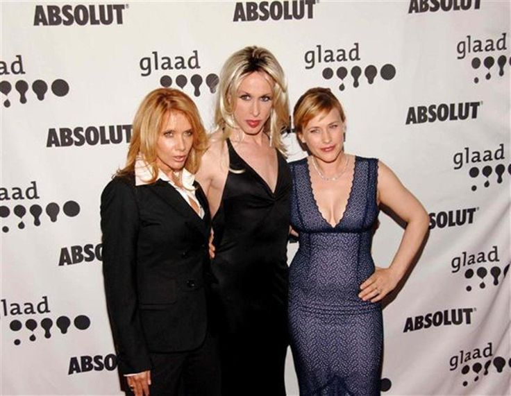 Alexis (middle) Arquette is one of the Arquette siblings (David, Rosanna and Patricia). She has an extensive acting resume from both before and after her transition, having played Caligula on Xena and appearing in Pulp Fiction.
