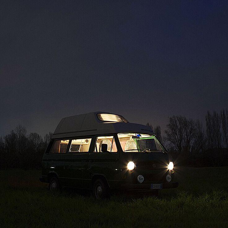 El Stanco by night! VW T3 Westfalia hardtop
