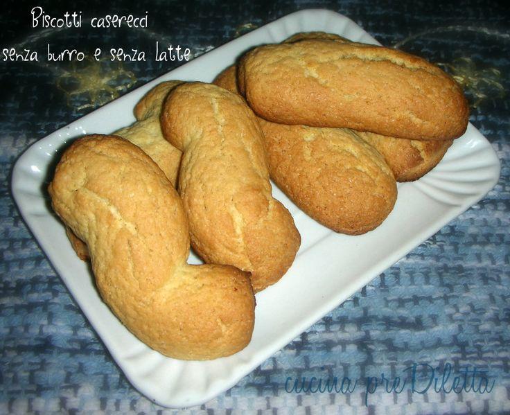 Biscotti caserecci senza burro e senza latte, ricetta