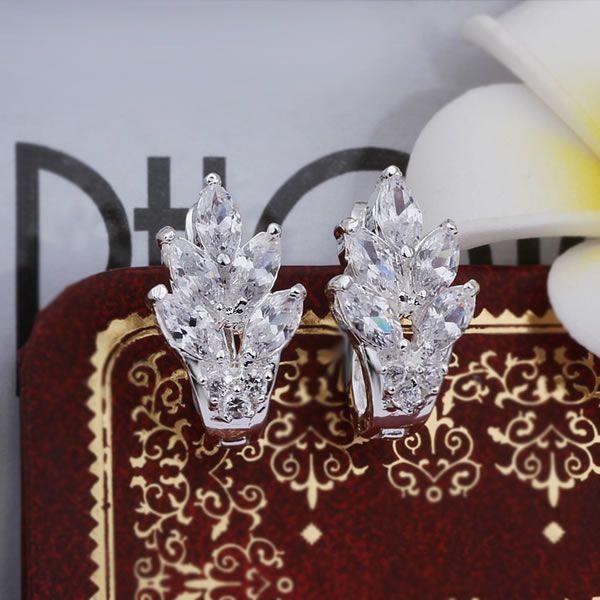 Оптовые серебряные мужские Серьги, серебряные ювелирные изделия Серьги серебряные Серьги бесплатная доставка E356