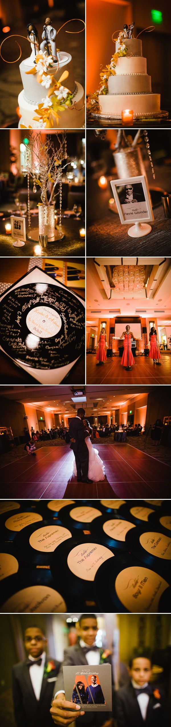 yesssss. Motown inspired. Pics of a wedding but table idea is so cooool and the decorations are great