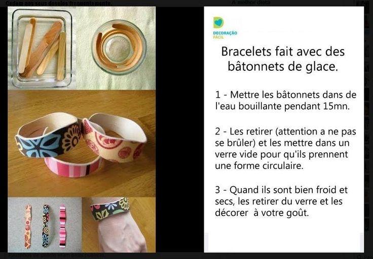 Bracelets en b tonnets de glace saison ii anim t - Que faire avec des cagettes de clementines ...