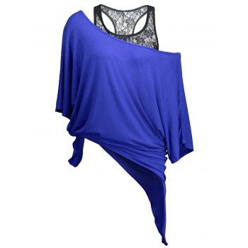 SHARE & Get it FREE | Handkerchief Batwing T-Shirt with Lace Tank TopFor Fashion Lovers only:80,000+ Items·FREE SHIPPING Join Dresslily: Get YOUR $50 NOW!
