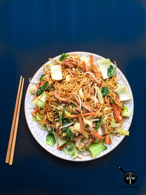 Take the Shortcut: Pork Chow Mein | DailyWaffle