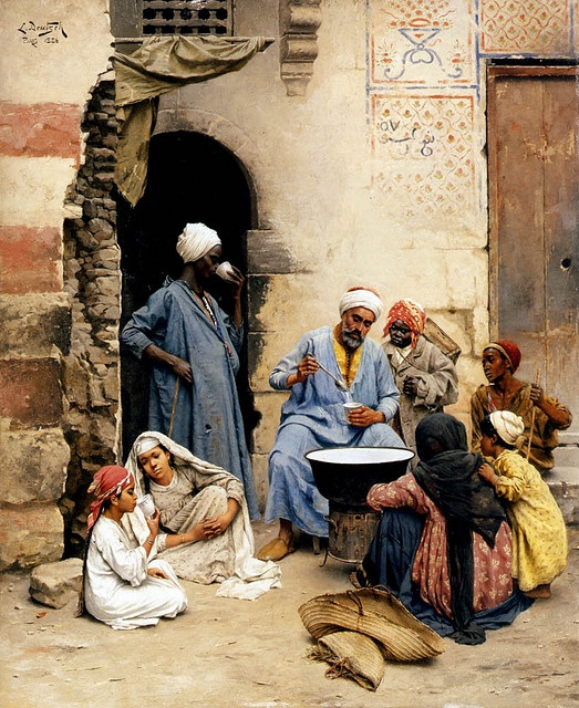 "Ludwig Deutsch (Austrian, 1855- 1935)  ""The Sahleb Vendor, Cairo"""