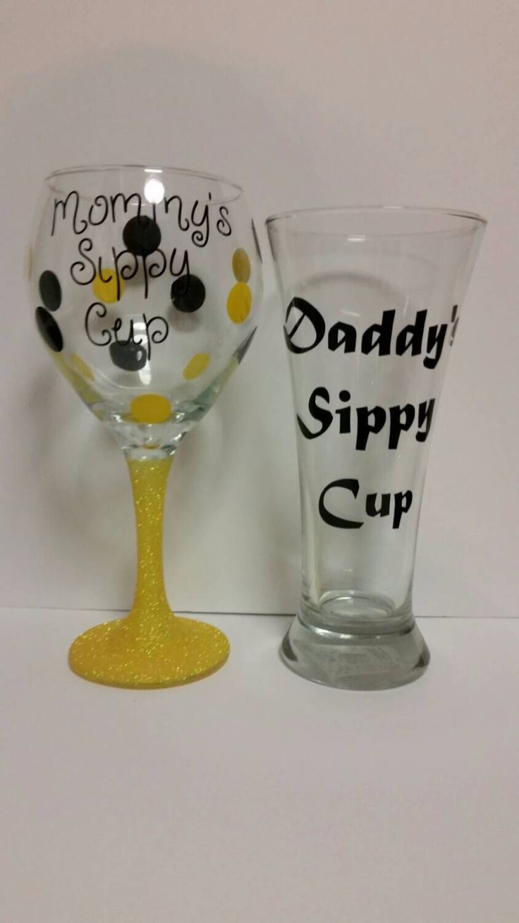 glitter wine glass mommy daddy sippy cup set yellow wine and beer glitter and wine. Black Bedroom Furniture Sets. Home Design Ideas