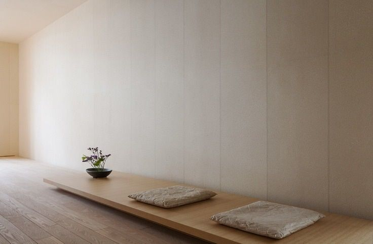 A simple zen meditation room. Minimal. Climbing to enlightenment means being empty.