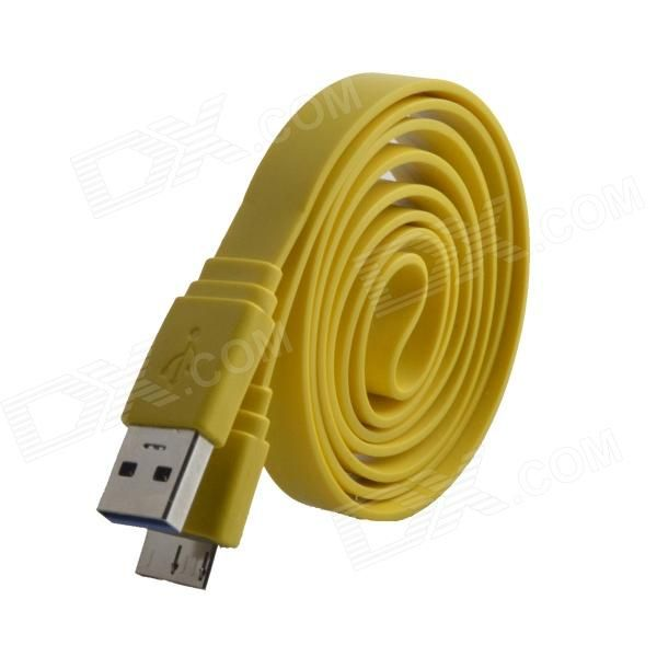 Color: Yellow; Model: HH-170; Material: PVC + copper wire; Quantity: 1 Piece; Compatible Models: Samsung Galaxy Note 3 N9000 / N9005; Cable Length: 98 cm; Connector: USB 2.0 male Micro USB 3.0 male; Other Features: Supports charge and data transfer; Packing List: 1 x USB cable (98cm); http://j.mp/1lkxnvF