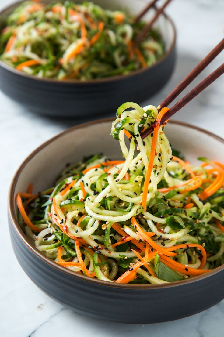 Asian Sesame Cucumber Salad | I am a huge fan of eating veggies just as they are, but let's face it, they get boring pretty quick. Enter, cucumber salad. But not just any ol' cucumber salad...