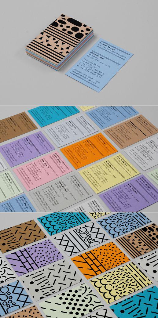 Business Cards for Blustin Design by Mind Design
