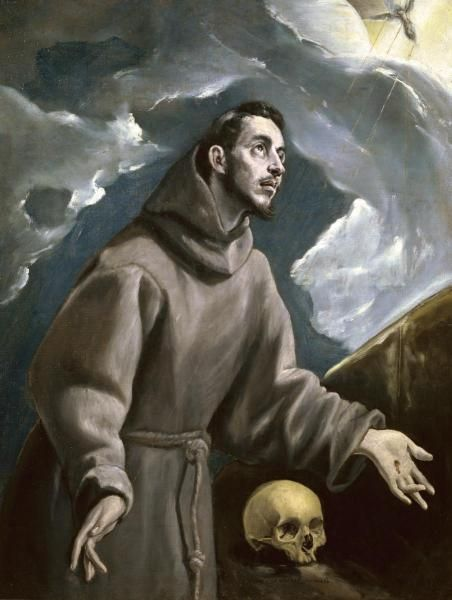 El Greco shows great light manipulation and emotion in the painting of St Francis