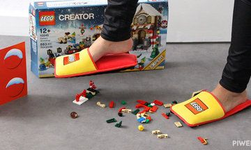 New LEGO Slippers Will Spare Parents The Unique Pain They Know All Too Well