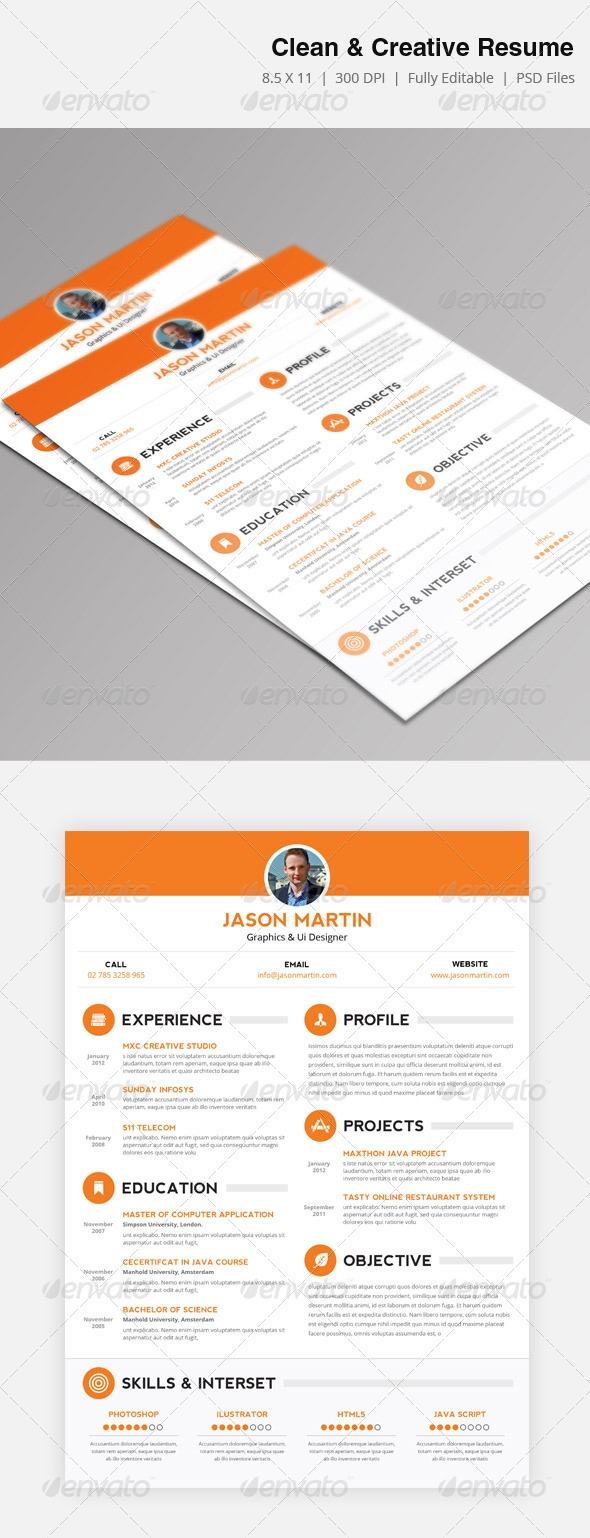 Clean & Creative Resume, big typo at the bottom