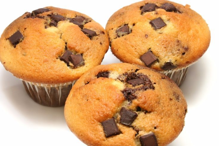 Muffiny s kúskami čokolády