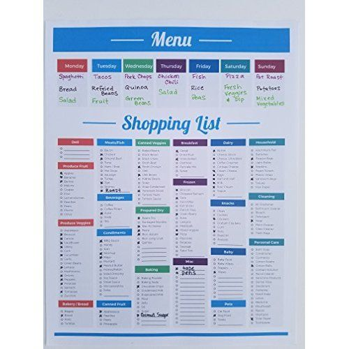 25 best ideas about Grocery List Organizer – Grocery List Organizer Template