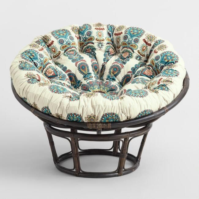 Radiant Print Microsuede Papasan Chair Cushion World Market