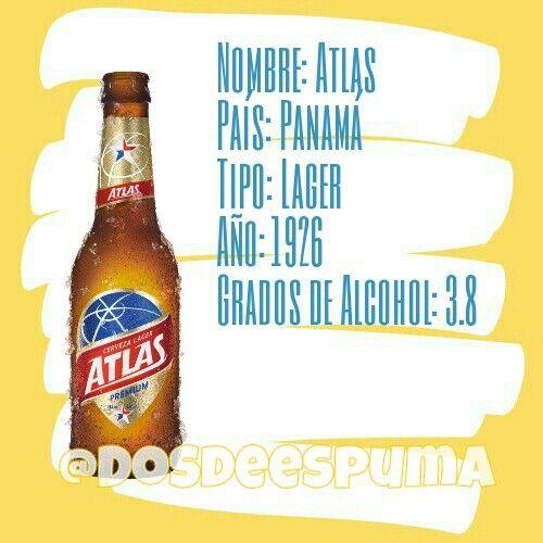 La Atlantic Brewing es la responsable en fabricar una de las cervezas más reconocidas de Panamá, siendo una cerveza light muy similar a las norteamericanas Bud Light y Miller Light, con unos 3.8 Grados de Alcohol.  #cerveza #dosdeespuma #birras #beer #cerveceros #cervezas #atlas #cervezaatlas #panama