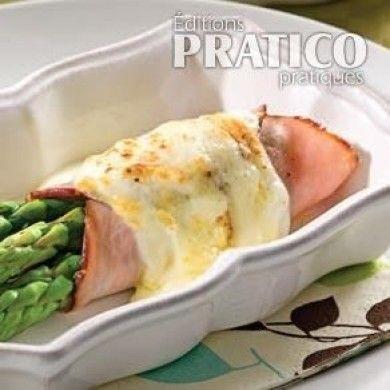 Rouleaux d'asperges et jambon au gratin - Recettes - Cuisine et nutrition - Pratico Pratique
