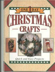 One-day cristmas craft   http://mirknig.com/knigi/hobby/1181749735-one-day-cristmas-craft.html  Книга на английском.В книге представлено изготовление оригинальных Рождественских подарков и украшений. Несколько проектов подарков на Рождество и Новый год. Проекты простые (можно делать с детьми), поэтапно проиллюстрировано, что и как делать.