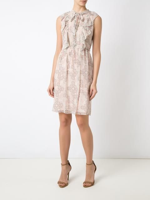 Nk Collection Vestido reto de seda estampado