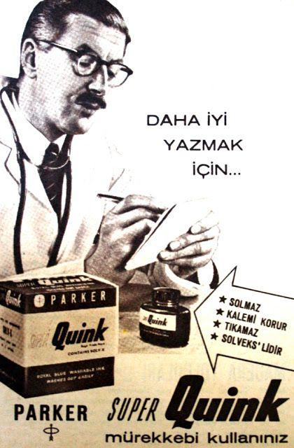 OĞUZ TOPOĞLU : daha iyi yazmak için parker süper quink mürekkebi ...