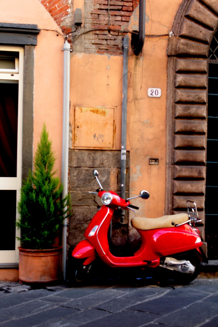 Scooter through Italy.