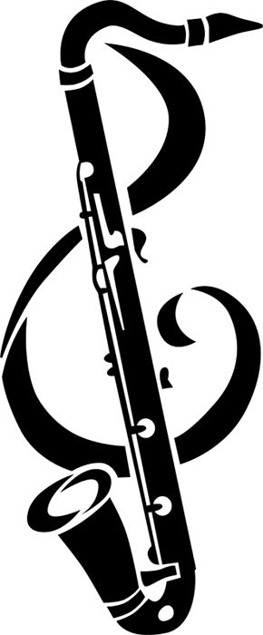 Bass Clarinet Clef Tattoo