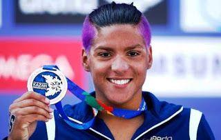 Blog Esportivo do Suíço:  Ana Marcela é bronze na maratona aquática do Mundial e vai ao Rio-16 com Poliana