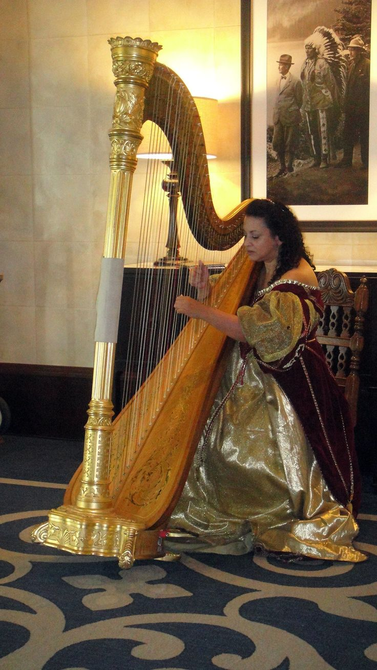 Lady With Harps Free Stock Photo HD - Public Domain Pictures