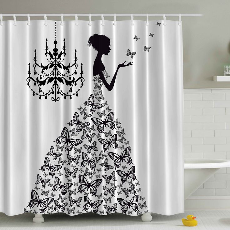 Ambesonne Madame Butterfly Print Shower Curtain You'll Love | Wayfair