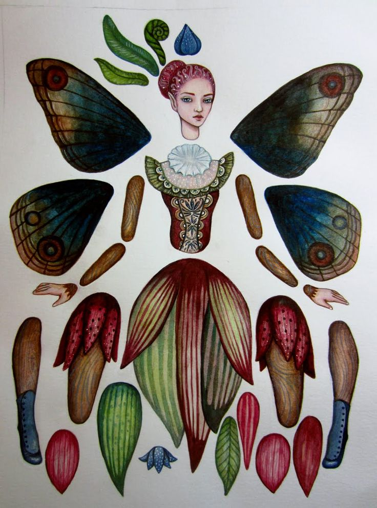 Cynthia Thornton of Green Girl Studios: fairy paper doll