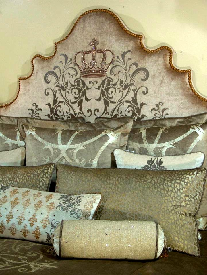 Etoffe Makara   Bedrooms   Pinterest   Bedrooms, Paint techniques furniture and Crown decor