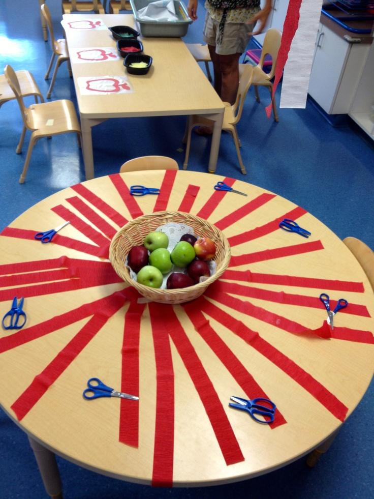 Preschool Apple Theme: Scissor Cutting Crepe Paper for Apple Fine Motor Fun!