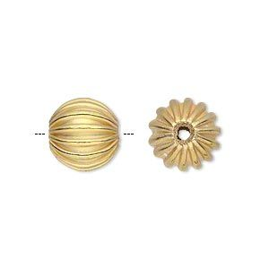 Best Bead Gold Finished Copper 12Mm Corrugated Round 1 5 4Mm 640 x 480