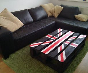 Union Jack palette table