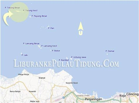 Peta Pulau Tidung