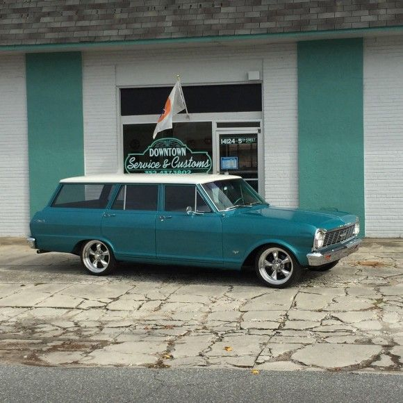 Project Cars For Sale - 1965 Chevrolet Nova Station Wagon On Air Bags!